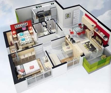 Planos de Casas, Modelos y Diseños de Casas: planos de casas 3d