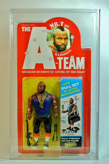 GALOOB THE A-TEAM 6 INCH SERIES - 5 BACK CARD - B.A BARACUS	1983	85Y-NM+