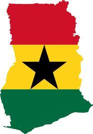 Ghana-Flag map