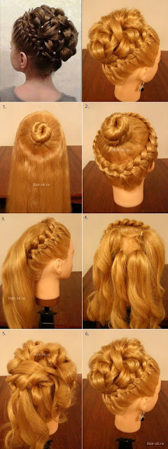 Elegant Braiding Hairstyle With Curls