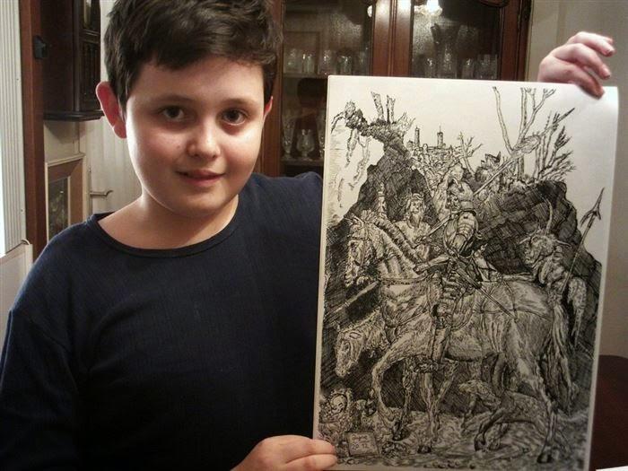 لن تصدق ان اللوحات المرسوم لطفل ذا عمر 11سنة c4a3f3b7-75d0-40b4-b