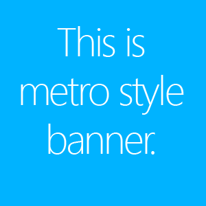 Create metro style banners using photoshop
