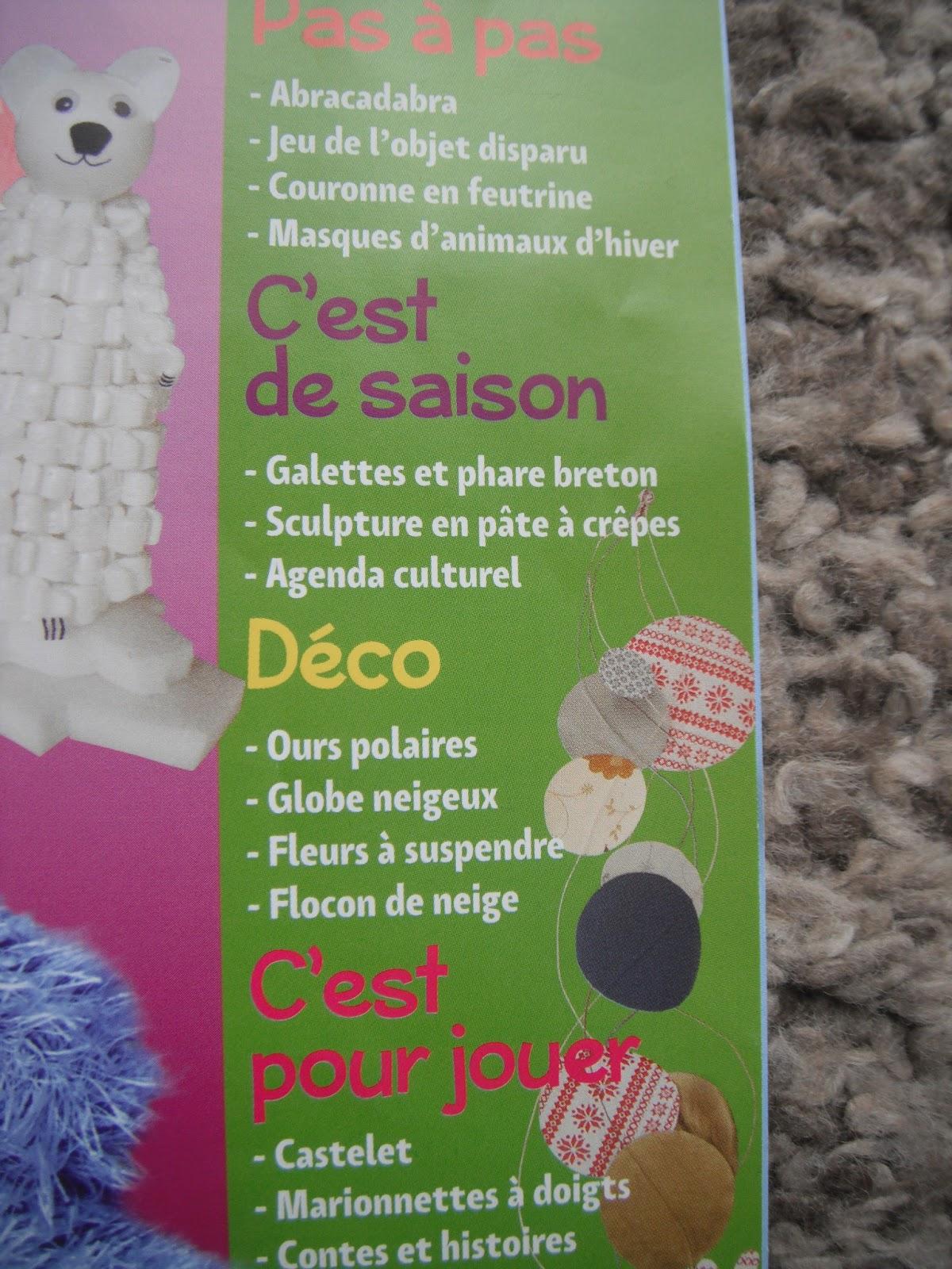 Nounou au pre vert magazine creation et deco pour for Magazine bricolage et decoration