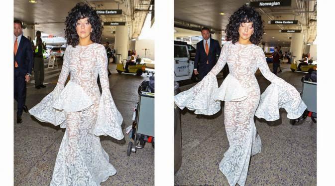 Baju Seksi Syahrini Mirip Gaun Artis Hollywood  Beyonce dan Lady Gaga