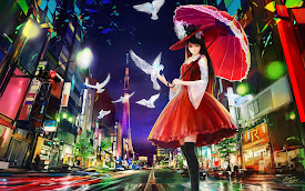 lolita fashion anime girl original umbrella hd wallpaper