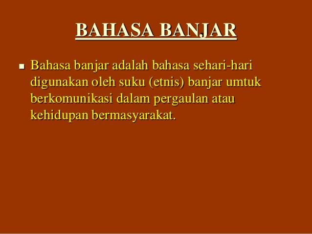 Belajar Bahasa Banjar
