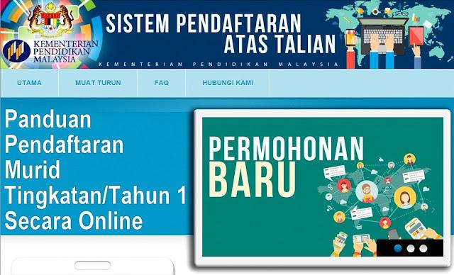 Panduan Pendaftaran Online Murid Tingkatan/Tahun 1