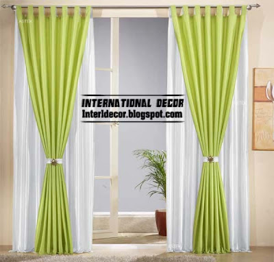 green and white classic curtain design