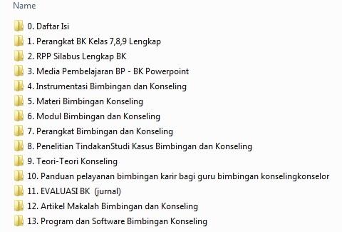 Perangkat Administrasi BP - BK Lengkap