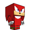 Sonic X, Knuckles Papercraft