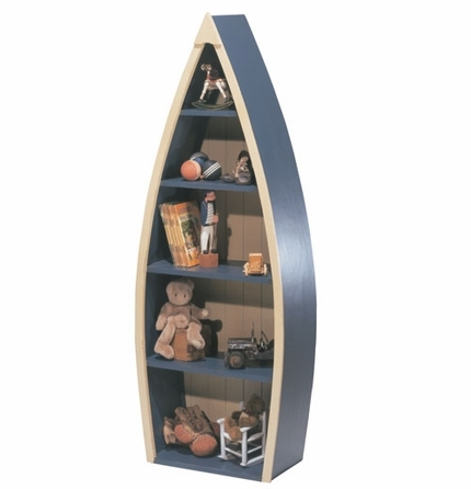 Rowing Boat Bookcase, Boat Shaped Bookcase, Toddler Bookshelf