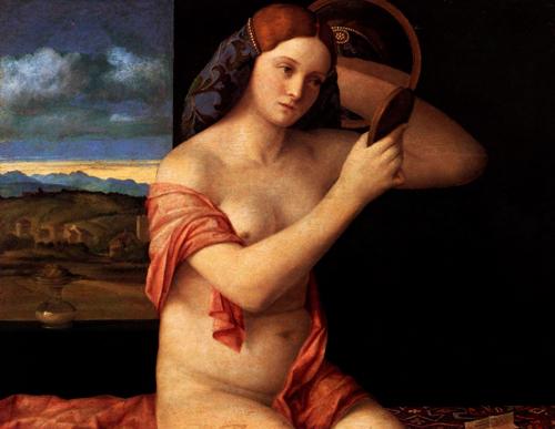 Jeune au Miroir, Bellini 1515