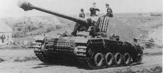 WWII German 12.8 cm Selbstfahrlafette Sturer Emil Gun Tank 1:72 Easy Model