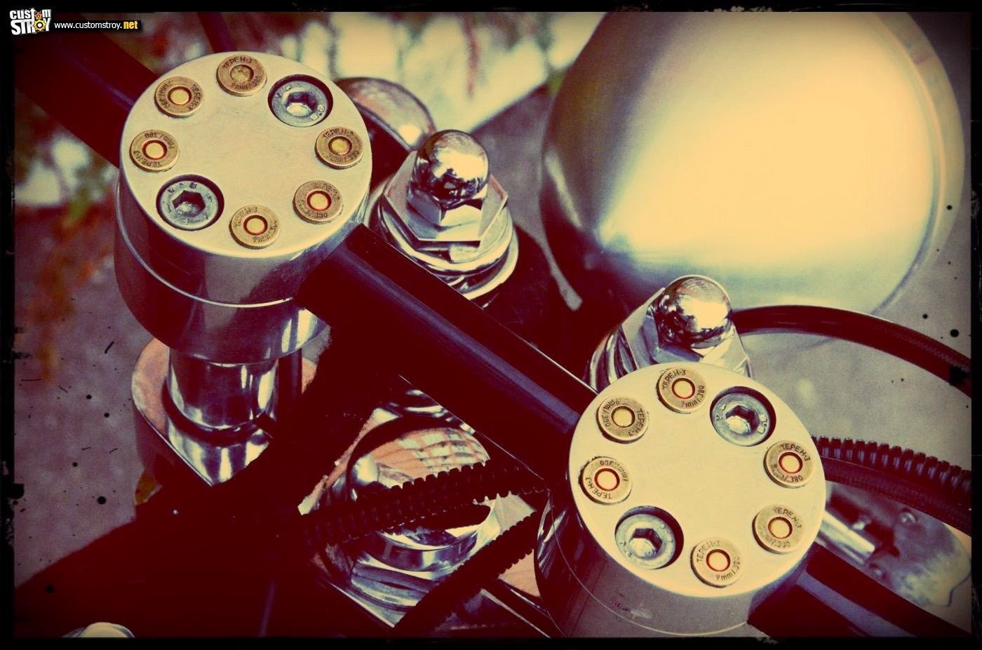 bullets in the jawa bobber front end
