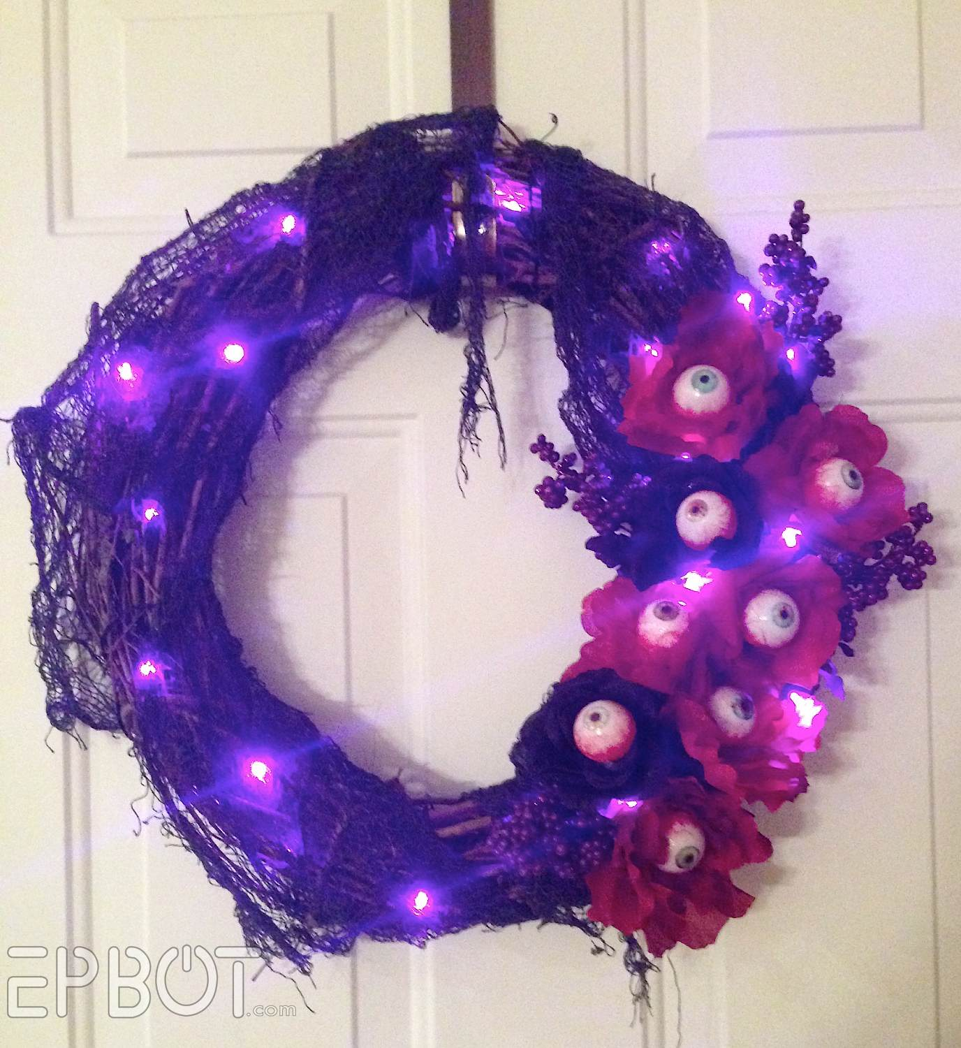 Eyeball christmas ornaments - It Helps To Have The Lights On For This Stage So You Can Avoid Covering The Bulbs With Your Flowers Do Hide The Battery Pack Though