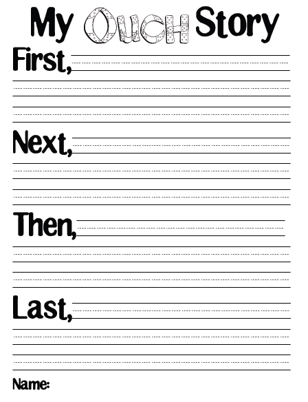 We started with this as our pre-write, which I also use as our first ...