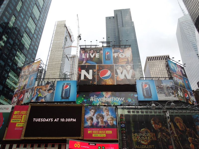Pepsi Live for Now billboards Times Square