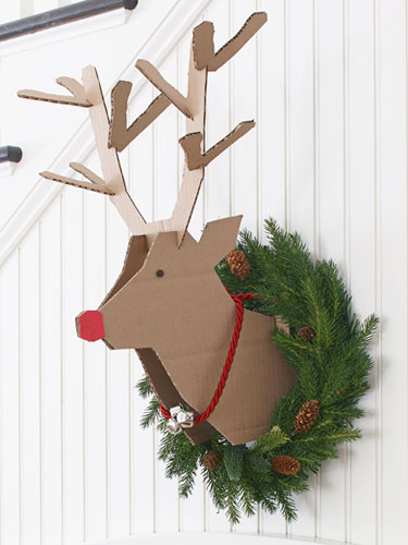 Cardboard Reindeer Decoration | DIY Christmas