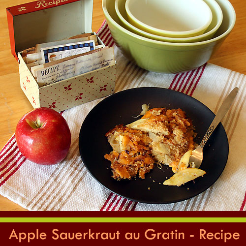 Foy update apple sauerkraut au gratin new vegetarian thanksgiving recipe - Appel krat ...