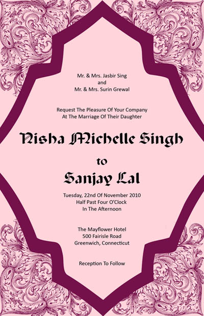 Elegant And Beautiful Wedding Invitations For Free Pink And Purple Wedding Invitations