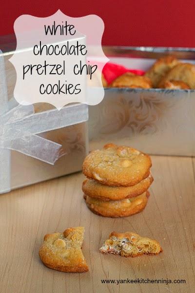 white chocolate pretzel chip cookies