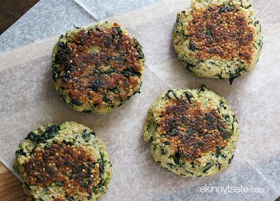 Quinoa Patties With Eggs And Spinach Pesto Recipes — Dishmaps