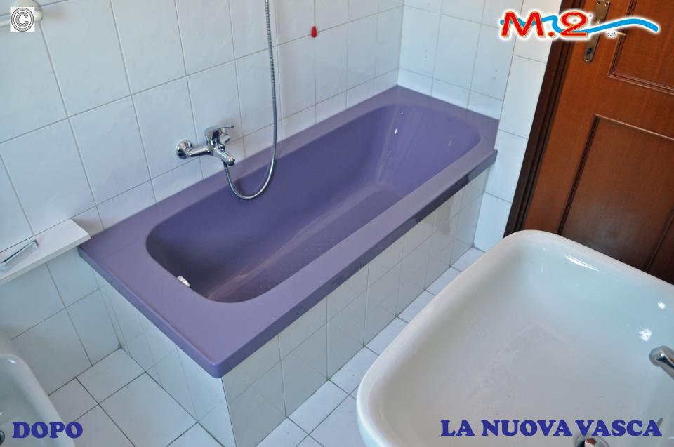 Sovrapposizione vasca da bagno colorata m 2 - Mezza vasca da bagno ...