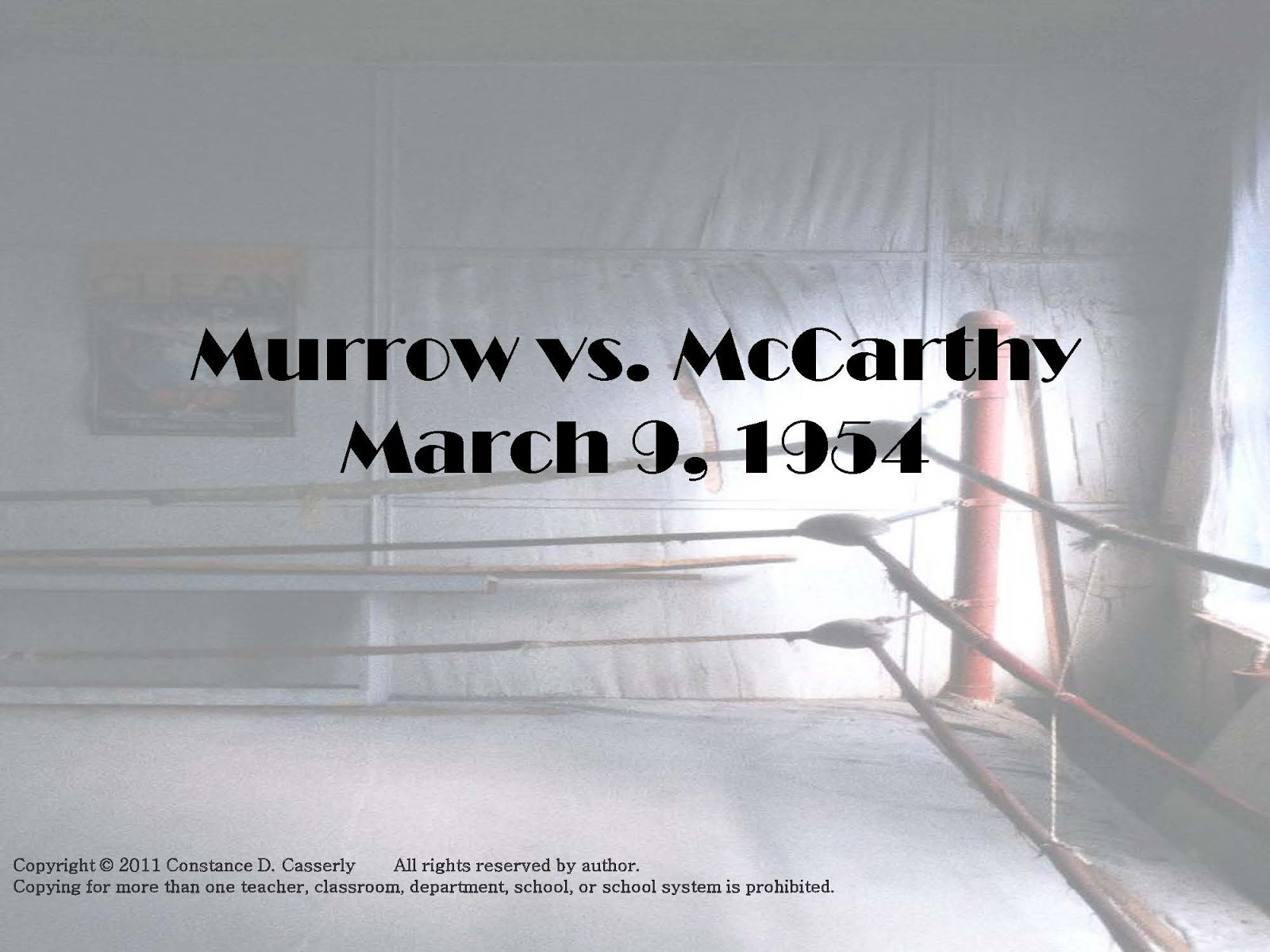 Journalism murrow vs mccarthy powerpoint