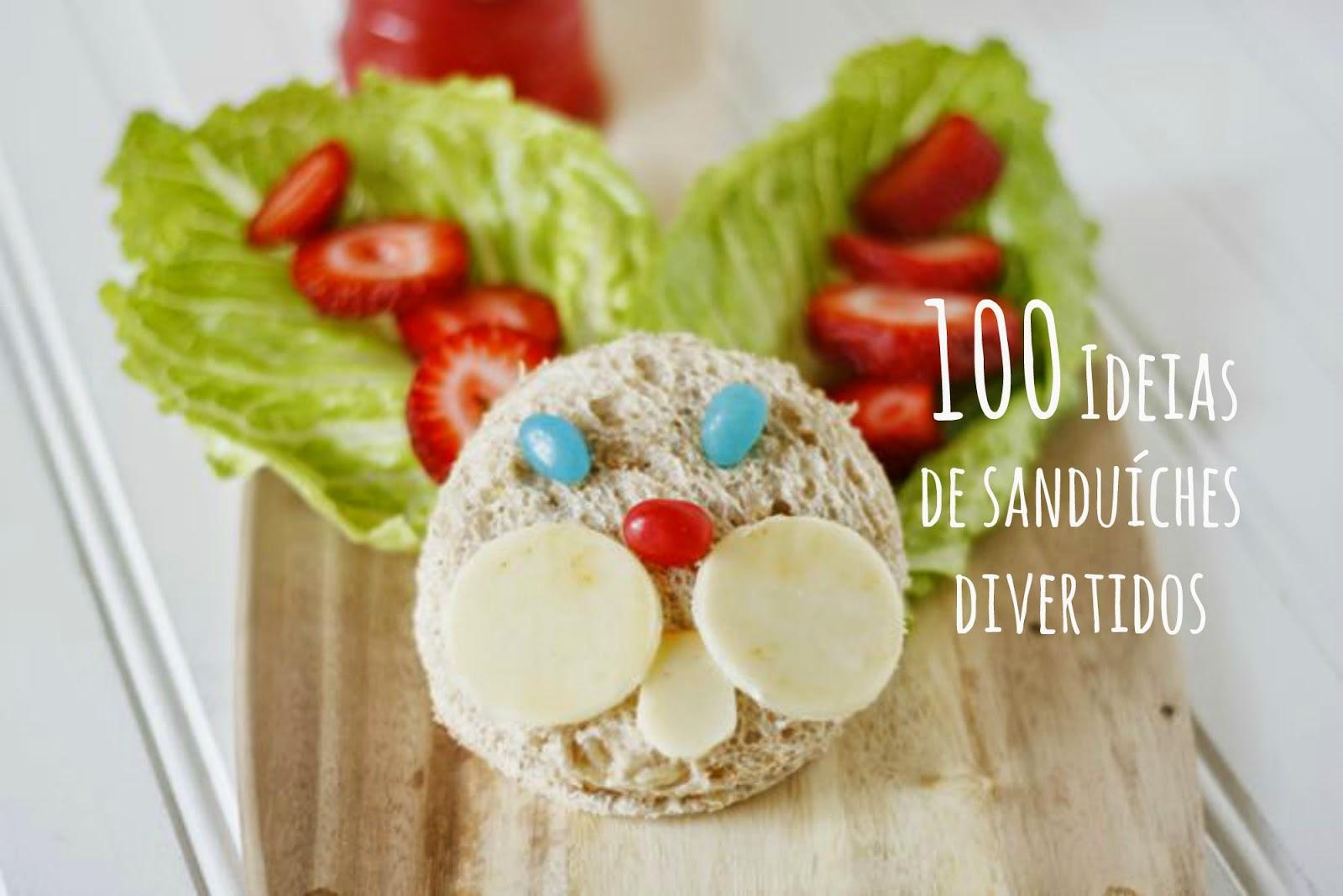 100 Ideias de sanduíches divertidos