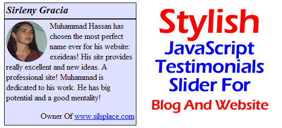 Stylish JavaScript Testimonials Slider For Blog And Website