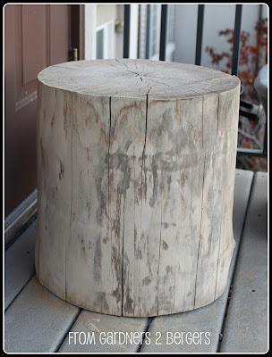 from gardners 2 bergers diy west elm tree stump table. Black Bedroom Furniture Sets. Home Design Ideas