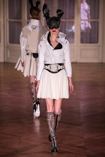 bunny mask at Undercover Fall Winter 2013 runway