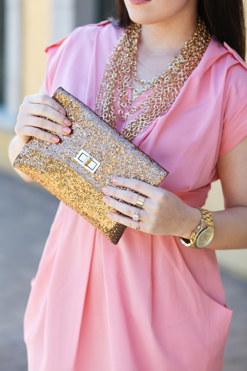 opi-nail-polish-michael-kors-gold-watch-gold-chains-pink-dress-valentines-day-outfit-ideas-date-night-2014-king-and-kind