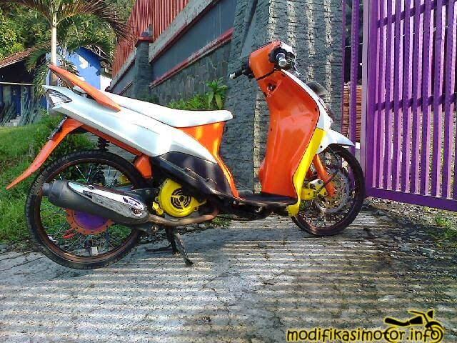 modifikasi mio sporty velg 17 jari jari
