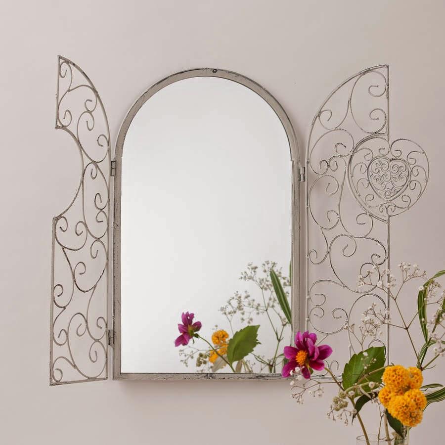 10 espejos vintage para una decoraci n de poca for Marcos plateados para espejos