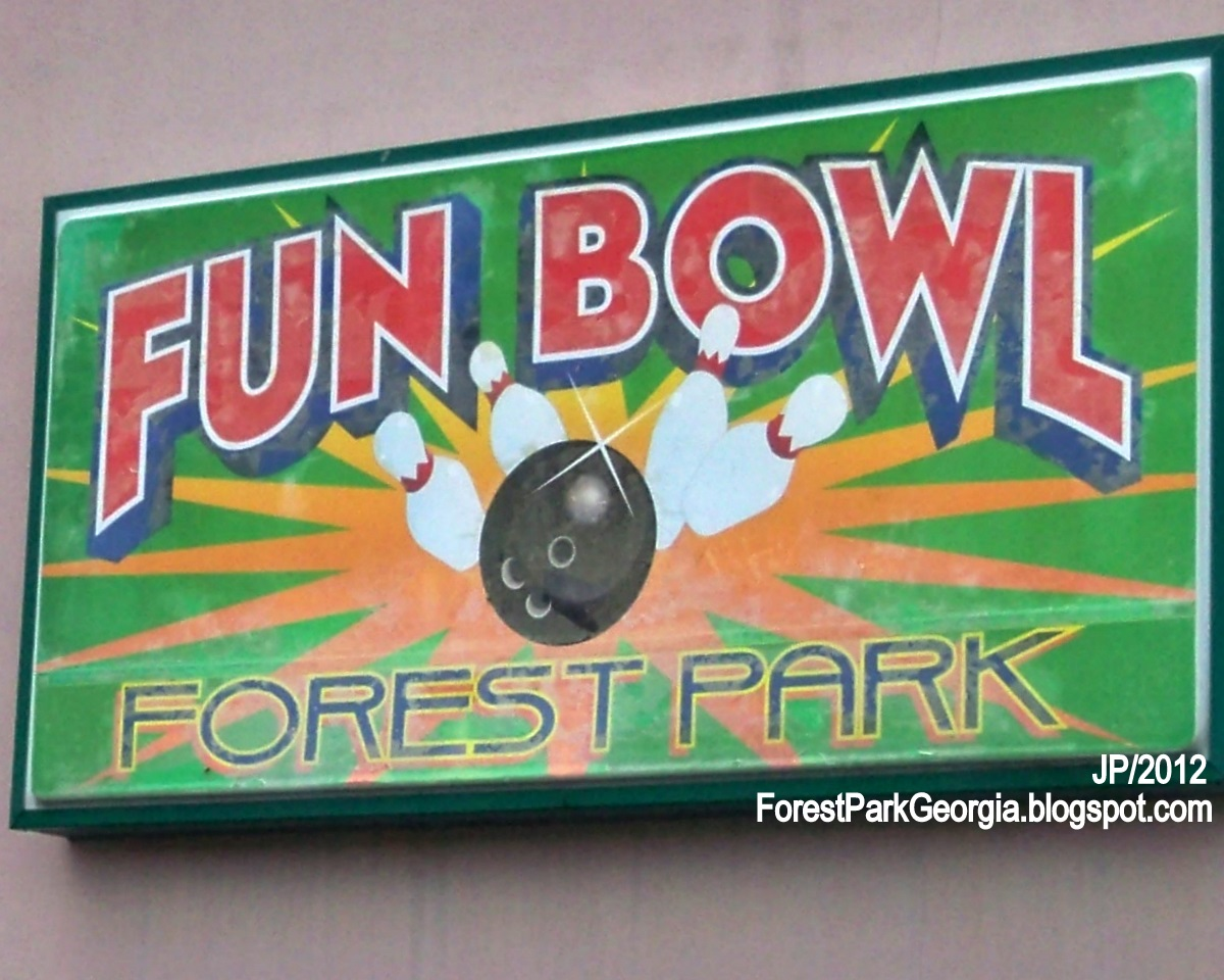 Fun Bowl Forest Park Georgia Jonesboro Road Sign Bowling