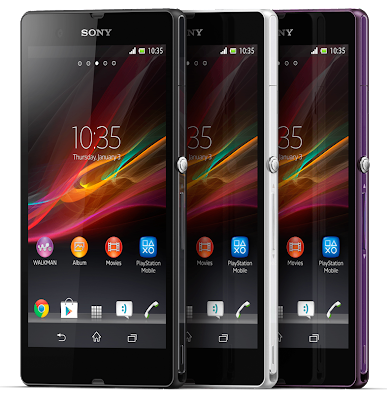 Sony Xperia Z and ZL Android Smartphone