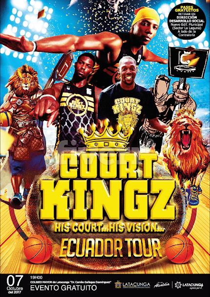 """""""COURT KINGZ"""" Show de Baloncesto  en Latacunga el 7 de Octubre 2017"""