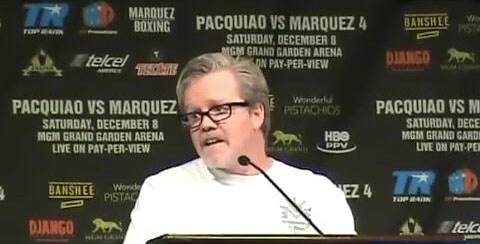Freddie Roach at Pacquiao vs Marquez 4 Post Fight Press Conference 