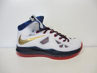 Nike Lebron 10 Putih Hitam