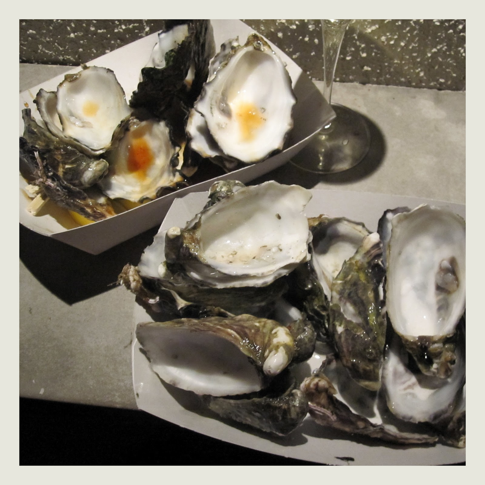 The glamourista oyster frenzy for Smoked oyster canape