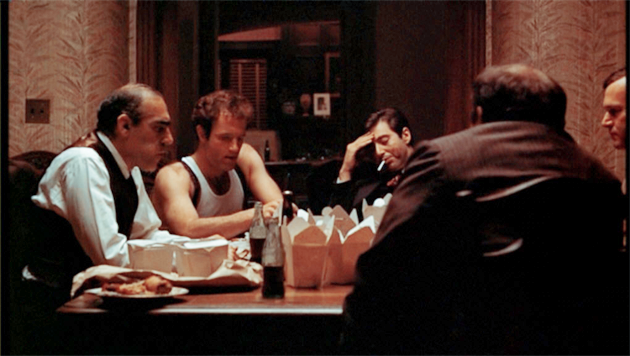 Al Pacino and James Caan in The Godfather