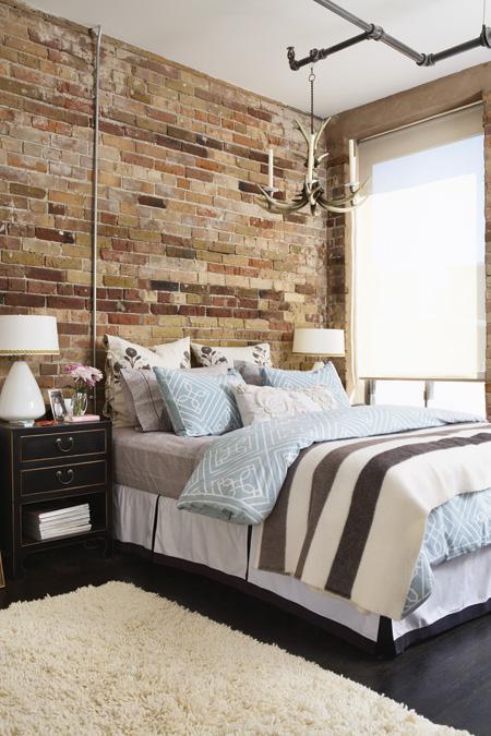 Exposing Brick Walls in Bedroom   ARCHITECTURE <meta content ...