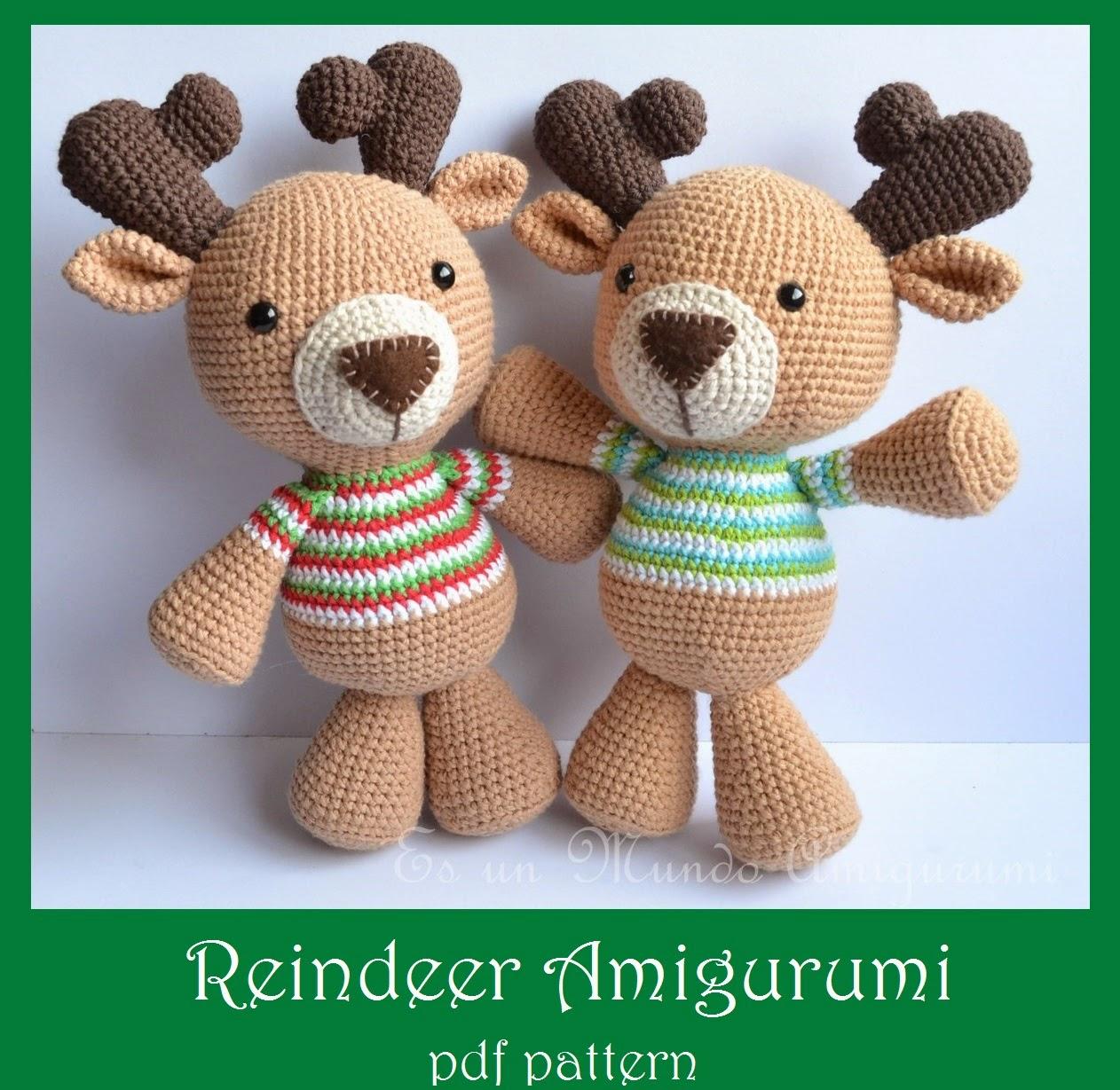 Amigurumi Reindeer Pattern : Es un Mundo Amigurumi: Reindeer Amigurumi Pattern...