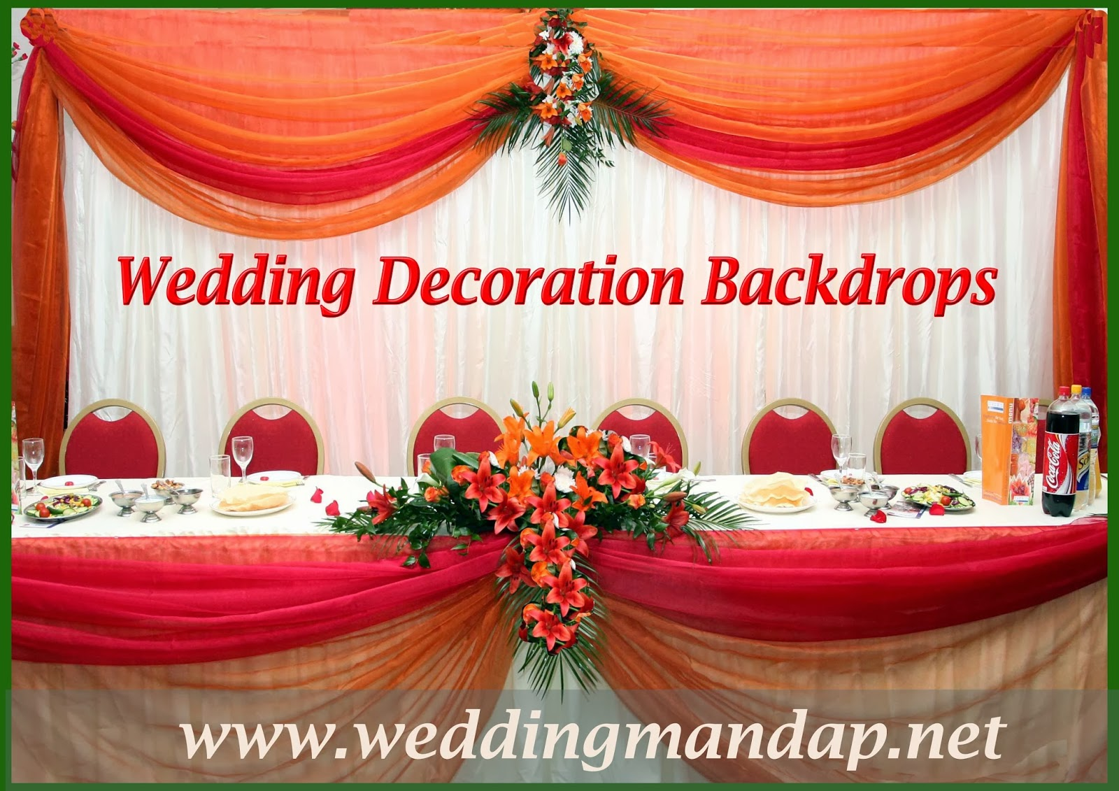 Decorative fabrics for Background decoration for wedding