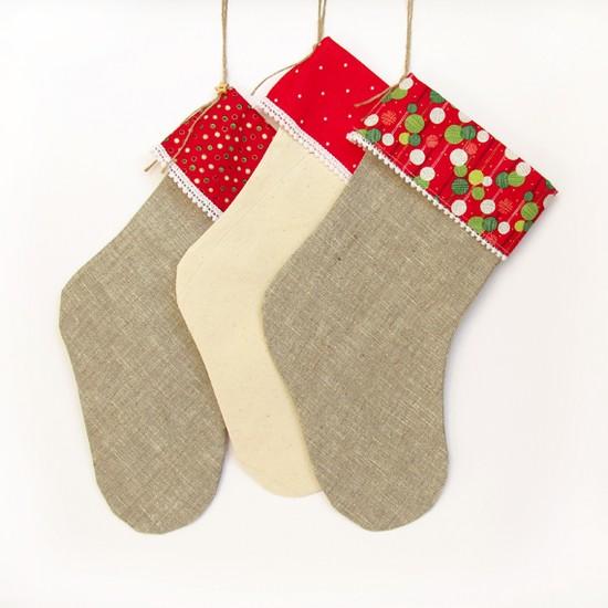Красные носочки для подарков,  Christmas Stocking
