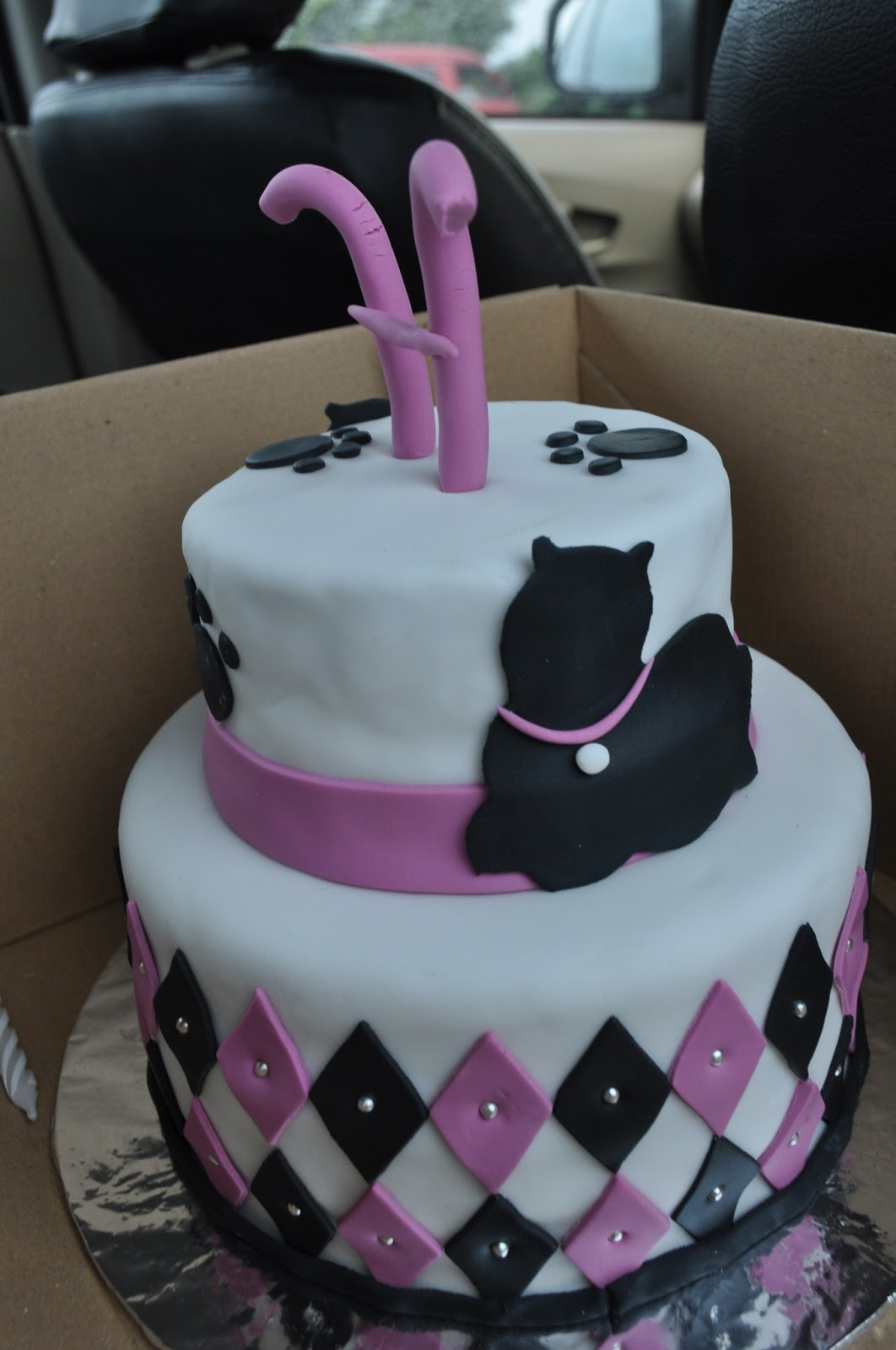 momatoye Cat Themed Birthday Cake Hesty Tonkih