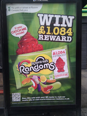 Rowntrees Randoms QR code poster London