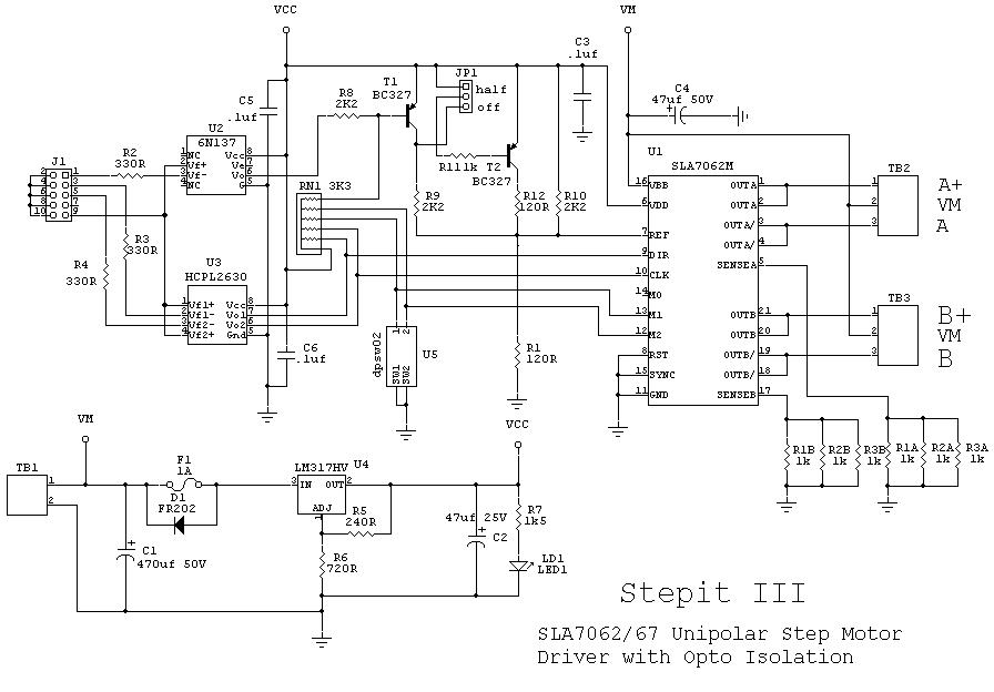 cncrouterbuild  sla7062  67 step motor driver