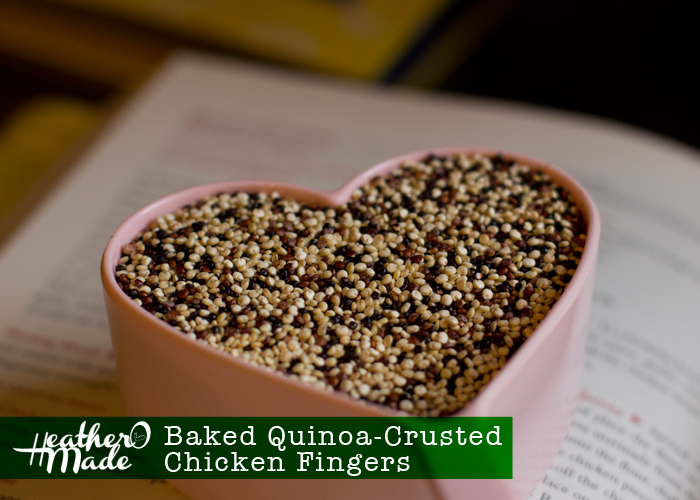Baked Quinoa Crusted Chicken Fingers recipe.